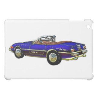 Royal Blue Convertible Sports Car iPad Mini Cases