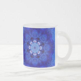 Royal Blue Coral Frosted Mug