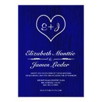 Royal Blue Country Wedding Invitations