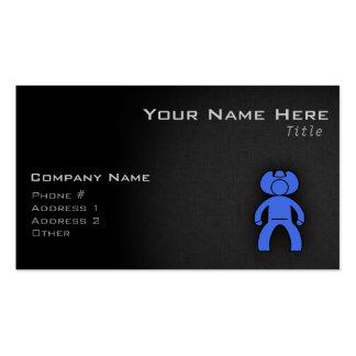 Royal Blue Cowboy Business Card Template