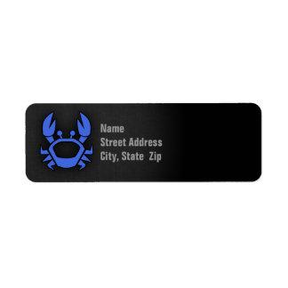 Royal Blue Crab Label