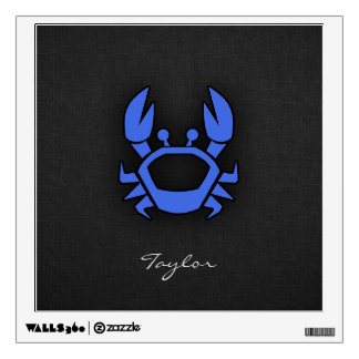 Royal Blue Crab Wall Sticker