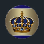 """Royal Blue Crown Prince Baby Shower Candy Jelly Belly Candy Tin<br><div class=""""desc"""">Elegant blue and gold blue little prince crown custom mint and candy tins with your choice of candy,  box shape and size!</div>"""