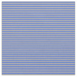 [ Thumbnail: Royal Blue & Dark Gray Colored Stripes Fabric ]
