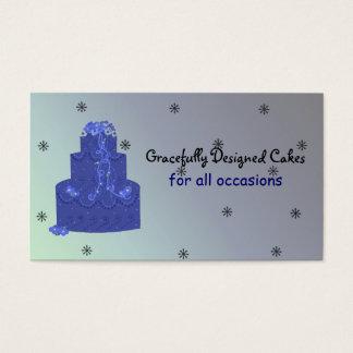Royal Blue Designer Cake Business Card