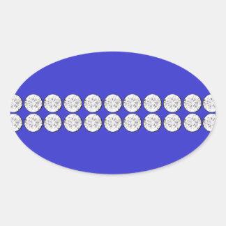 Royal Blue Diamond Oval Sticker
