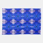 royal blue diamond sand hippie tiedye rug pattern towels