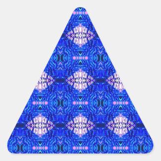royal blue diamond sand hippie tiedye rug pattern triangle sticker