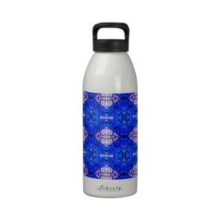 royal blue diamond sand hippie tiedye rug pattern reusable water bottles