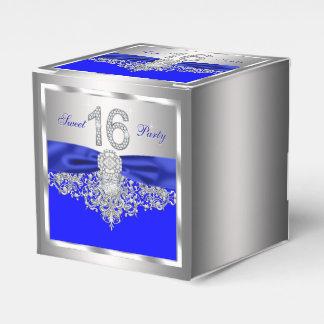 Royal Blue Diamond Sweet 16 Favor Box