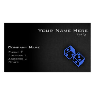 Royal Blue Dice Double-Sided Standard Business Cards (Pack Of 100)