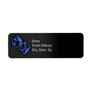 Royal Blue Dice Custom Return Address Labels