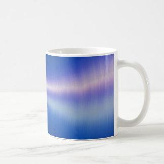 ROYAL BLUE DIGITAL SOUND WAVES WALLPAPER COFFEE MUG