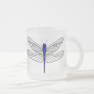 Royal Blue Dragonfly Mugs