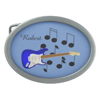 Royal Blue Electric Guitar Belt Buckle