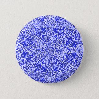 Royal Blue Elegant flow Pinback Button
