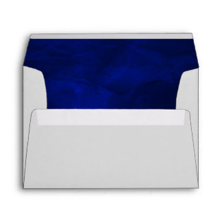 Royal Blue Elegant Silver Wedding Envelope