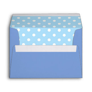 Royal Blue Envelope With Sky Blue Polka Dot Print