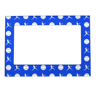 Royal Blue Fastpitch Pattern Magnetic Picture Fram Magnetic Frame