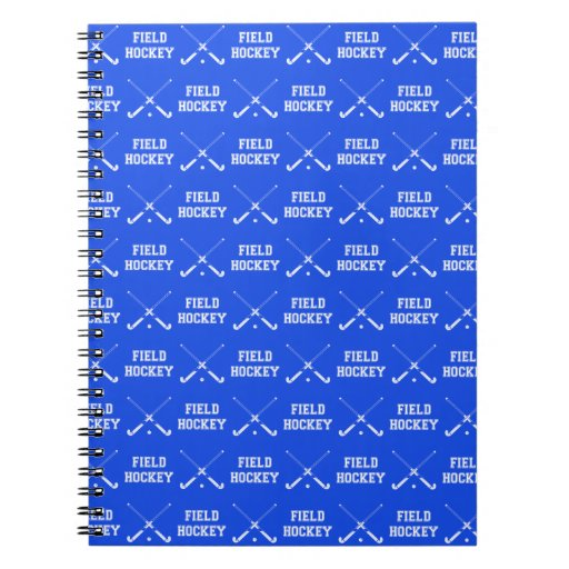 Royal Blue Field Hockey Notebook