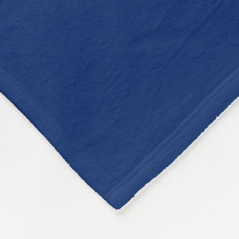 Royal Blue Fleece Blanket