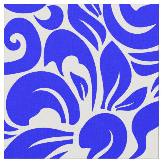 Royal Blue Floral Fabric