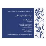 Royal Blue Floral Vine Bridal Shower Invitation