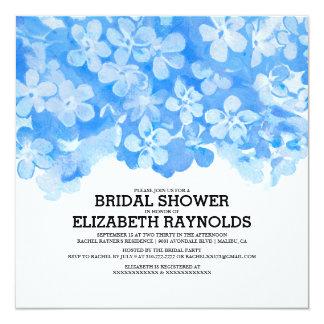 Royal Blue Flowers Bridal Shower Invitations Custom Invitation