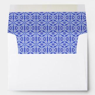 Royal Blue Fractal Pattern Envelope