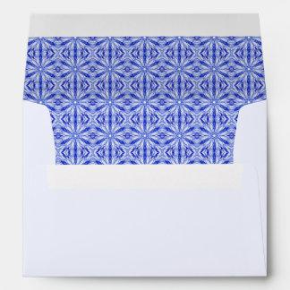 Royal Blue Fractal Pattern, Pale Blue Envelopes