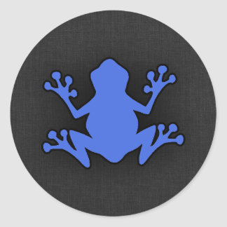 Royal Blue Frog Classic Round Sticker
