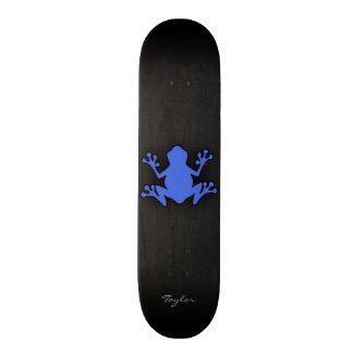 Royal Blue Frog Skateboard Deck