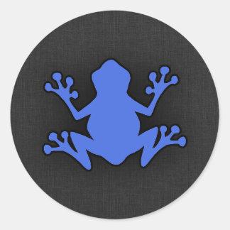 Royal Blue Frog Round Sticker