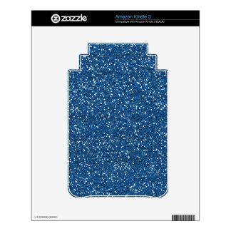 Royal Blue Glitter Skins For The Kindle 3