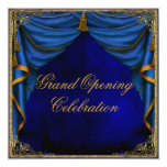Royal Blue Gold Corporate Business Grand Opening Personalized Announcement