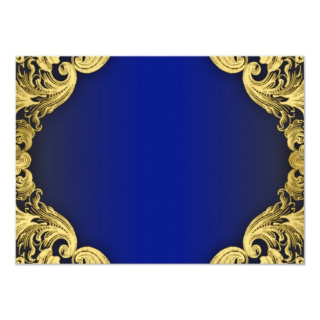 Royal Blue Gold Crown Prince Baptism Card | Zazzle