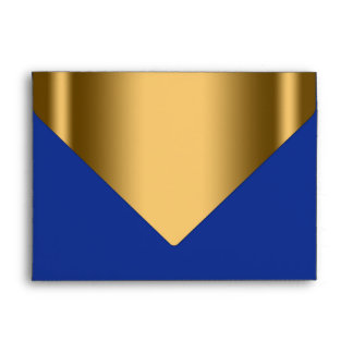 Royal Blue Gold Envelope