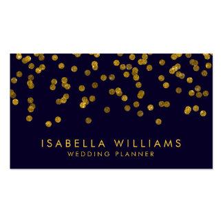 Royal Blue & Gold Foil Confetti Business Card