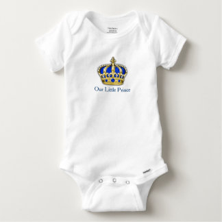 Royal Blue Gold Prince Crown Prince Baby Boy Baby Onesie