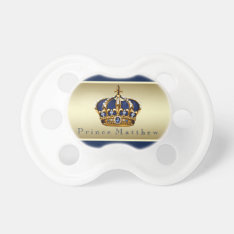 Royal Blue Gold Prince Pacifier at Zazzle