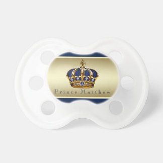 Royal Blue Gold Prince Pacifier