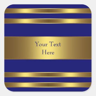 Royal Blue Gold Square Sticker
