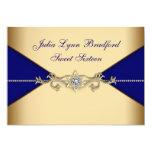 Royal Blue Gold Sweet Sixteen Card