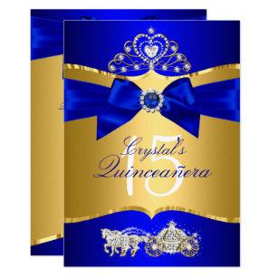Royal Blue Quinceanera Invitations Announcements Zazzle
