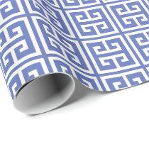 Royal Blue Greek Key Pattern Wrapping Paper