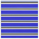 [ Thumbnail: Royal Blue, Grey, Black, Beige & Blue Colored Fabric ]