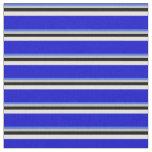 [ Thumbnail: Royal Blue, Grey, Black, Beige & Blue Colored Fabric ]