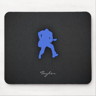 Royal Blue Guitar Player Mouse Pad