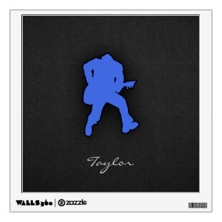 Royal Blue Guitar Player Wall Decals