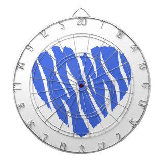 Royal Blue Heart Dart Boards